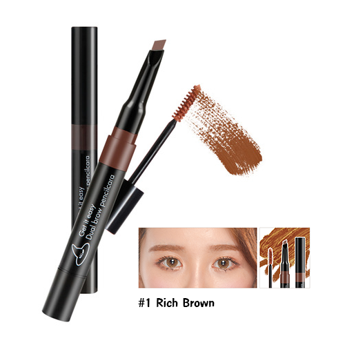 Witch's Pouch Get It Easy Dual Brow Pencilcara #1 น้ำตาลอ่อน